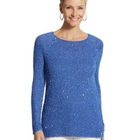 Chico's Sequin Shine Claire Pullover Sweater