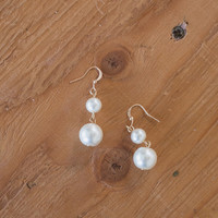 Isabella Double Pearl Earrings