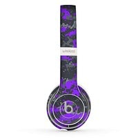 The Bright Purple and Gray Digital Camouflage Skin Set for the Beats by Dre Solo 2 Wireless Headphones