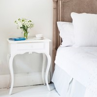 Provencal White Bedside Table