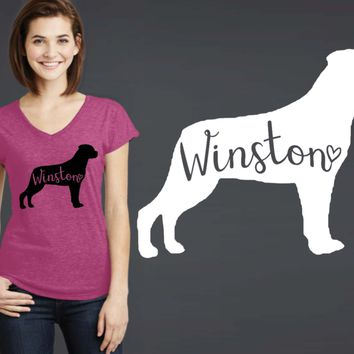 Rottweiler Dog Personalized T-shirt