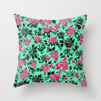Vintage Wallpaper Throw Pillow by lush tart | Society6