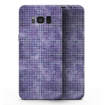 Purple Watercolor Polka Dots - Samsung Galaxy S8 Full-Body Skin Kit