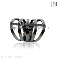 Pave Diamond Designer Ring, Supplier Wholesale Fashion Diamond Ring