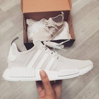 "Women ""Adidas"" Fashion Trending Beige And Gray Leisure Running Sports Shoes Beige"