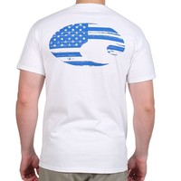 Costa Flag Tee in White by Costa Del Mar