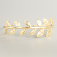Gold Leaf Cuff  Bracelet - World Market
