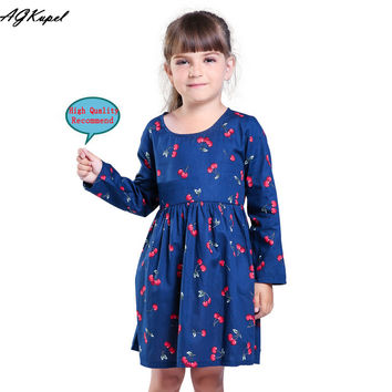 Summer girl dress Print pattern Children tutu dresses for girls baby girl clothes Sleeveless girls dresses
