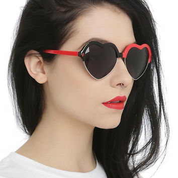 DC Comics Harley Quinn Heart Sunglasses
