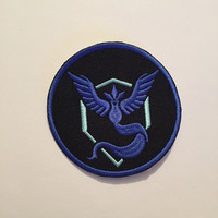 Team Mystic Patch, Team Mystic Iron On, Team Mystic, Pokemon Go Patch, Pokemon Go, Team Mystic Sew On