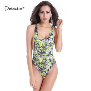 Detector  Women Tankinis  Bodysuit Sexy High Cut Swimsuit Backless Swimwear Women Monokini Bathing Suit Beachwear