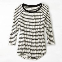 AEO STRIPED BASEBALL T-SHIRT