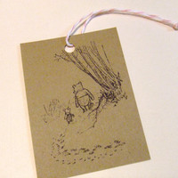 Winnie the Pooh and Piglet Gift Tags - Set of 6