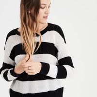 AE Rugby Stripe Sweater, Black