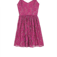 Strappy Lurex(R) Lace Dress