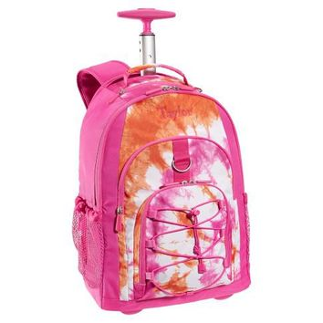 Gear-Up Pink Tie-Dye Rolling Backpack