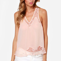 Call it a Dainty Peach Lace Top
