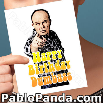 Funny Birthday Card |That 70's Show Red Foreman Card | anniversary bday congratulations wedding I love you pop culture boyfriend man him men