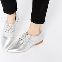 ASOS MARA Leather Pointed Flat Shoes