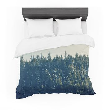 "Robin Dickinson ""Take The Road Less Traveled"" Gray Green Featherweight Duvet Cover"
