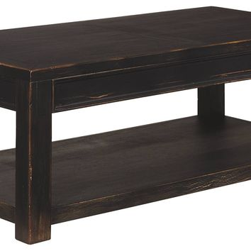 Gavelston Occasional Tables - Rectangular Cocktail, Square End, Sofa or Chair Side End Table - Black