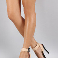 Women's Liliana Two Tone Open Toe Heel