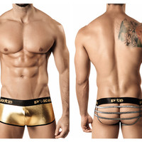Pikante Metallic Open Back Boxer