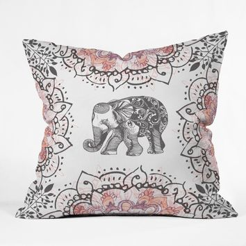 RosebudStudio Pretty Little Elephant Throw Pillow