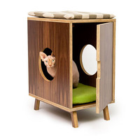 Compact II Cabinet /// Mid Century Modern Pet Furniture // Cat Litter Box Cover // Cat & Dog House // Side Table