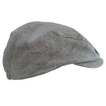 Gray Chambray Cabbie Hat