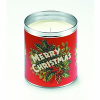 Merry Christmas Sprigs Candle