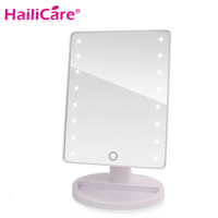 LED Touch Screen Professional Vanity Mirror With 16 or 22 LED Lights White Or Silver
