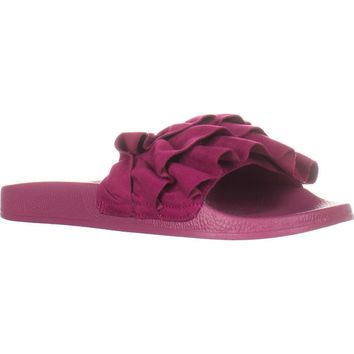 Fergalicious Flutter Flat Slide Sandals, Sweetberry, 8 US / 38 EU