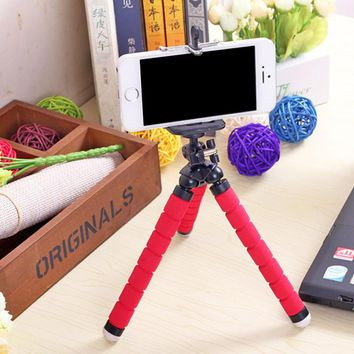 Phone Holder Mini Flexible Leg Octopus Tripod Bracket Selfie Stand Mount Monopod Styling