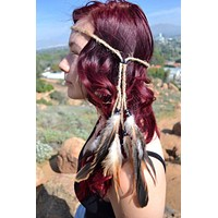 Native Feather Headband #B1053
