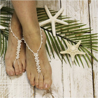 PETITE PEARL wedding barefoot sandals