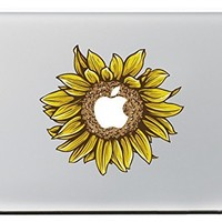 "iCasso Sunflower Removable Vinyl Decal Sticker Skin for Apple Macbook Pro Air Mac 13"" inch / Unibody 13 Inch Laptop"