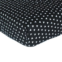 Fitted Crib Sheets | Black and White Triangles