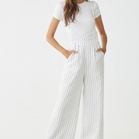Pinstriped Suspender Jumpsuit