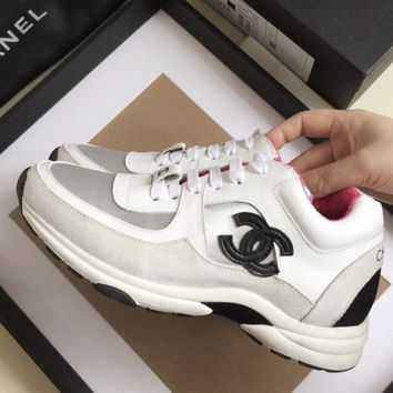 Double C Pink/white Sneaker