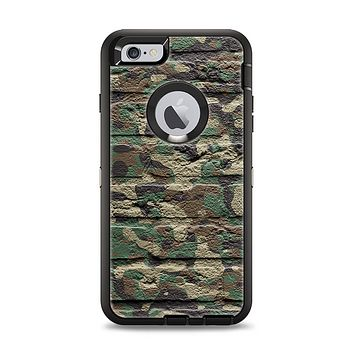 The Vibrant Brick Camouflage Wall Apple iPhone 6 Plus Otterbox Defender Case Skin Set