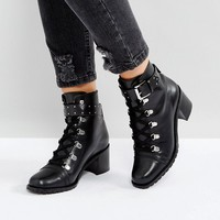 ASOS RATIO Leather Hiker Boots at asos.com