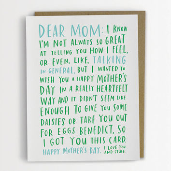 Awkward Mother's Day Card, Funny Mother's Day Card 200-C