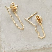 Draped Chain Earrings by Anthropologie in Gold Size: One Size Earrings