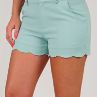 Over The Edge Shorts: Dusky Mint