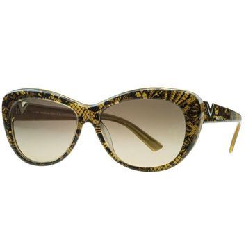 Valentino Gold Pearl Cateye Sunglasses