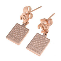 Chanel Woman Fashion Logo Stud Earring For Best Gift