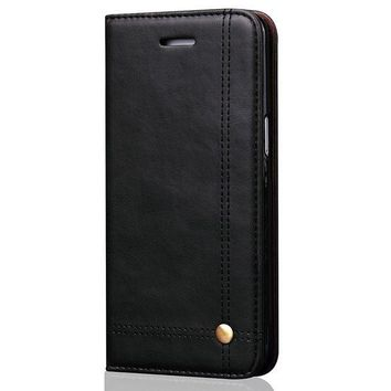 CREYV2S Phone Case Leather Wallet Phone Case with Credit Card Slot Holder iPhone 8 Cover Kickstand Case for iPhone6/7/8 Plus Galaxy S7/S8