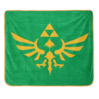 Nintendo The Legend Of Zelda Skyward Triforce Micro Raschel Throw