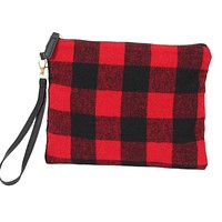 Buffalo Plaid Wristlets